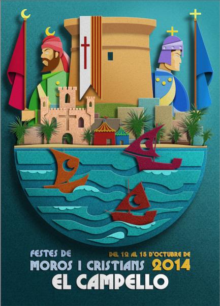 Fiestas de Moros y Cristianos de El Campello en honor a la Virgen de los Desamparados 2014