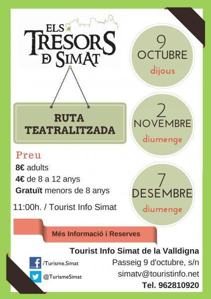 """Ruta Teatralizada """"Els Tresors de Simat"""""""