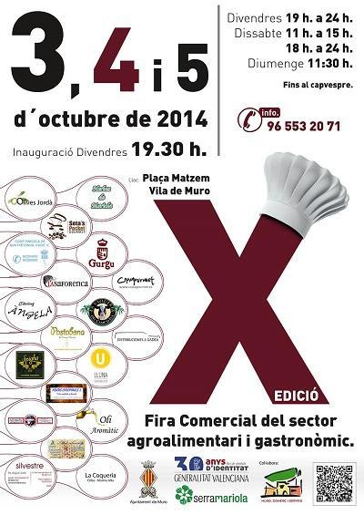 X edición de Feria Comercial del Sector Agroalimentario y Gastronómico