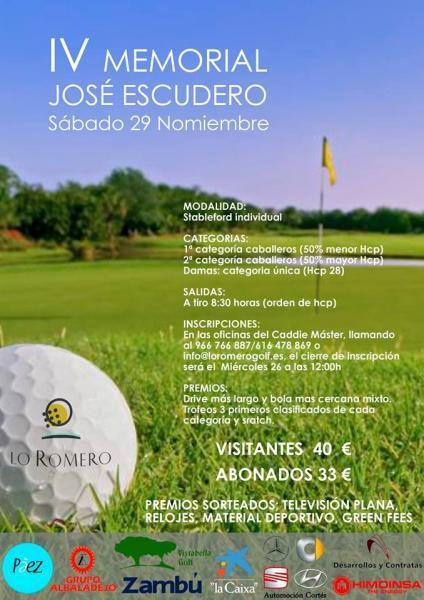 IV Memorial José Escudero de Golf