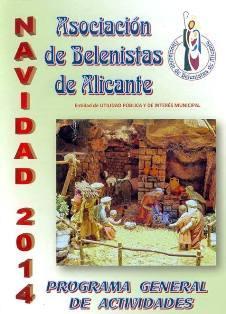 Programa de actividades de la Asociación de Belenistas de Alicante Navidad 2014
