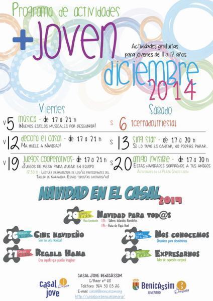 Programación Casal Jove Diciembre 14