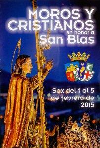 Fiestas de Moros y Cristianos de San Blas en Sax 2015