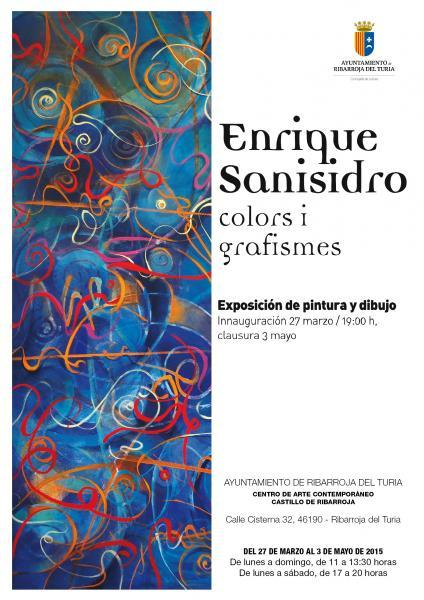 Exposición Enrique Sanisidro: Colors i grafismes