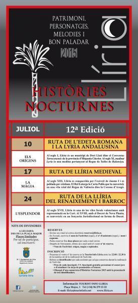 Historias nocturnas 12ª Edición Verano 2015