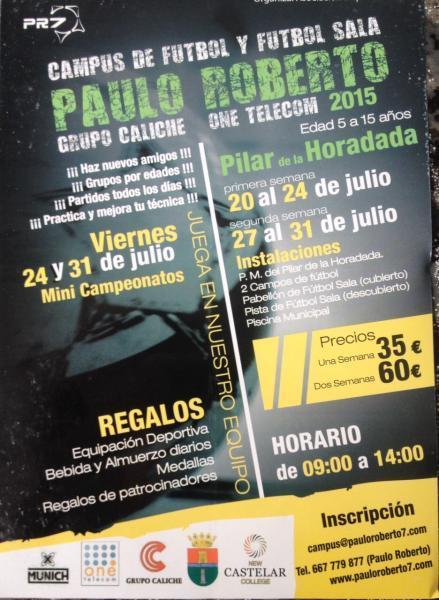 Campus de Fútbol Paulo Roberto Pilar de la Horadada 2015
