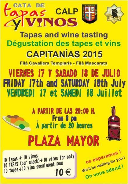 Cata de Tapas y Vinos - Capitanías 2015