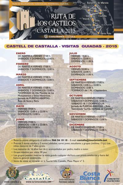 Visitas Guiadas Castillo de Castalla 2015