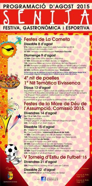 Senija's August programme