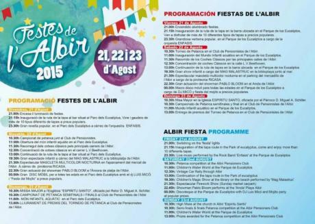 Festes de l´Albir 2015