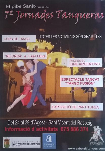 7º Jornadas Tangueras 2015 San Vicente del Raspeig