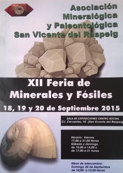 XII Feria de Minerales y Fósiles