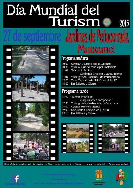 """Mutxamel - World Tourism Day -2015-. """"Be a tourist in your city""""."""