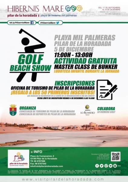 """""""Hibernis Mare"""" (Playa de invierno): Golf Beach Show en Pilar de la Horadada"""