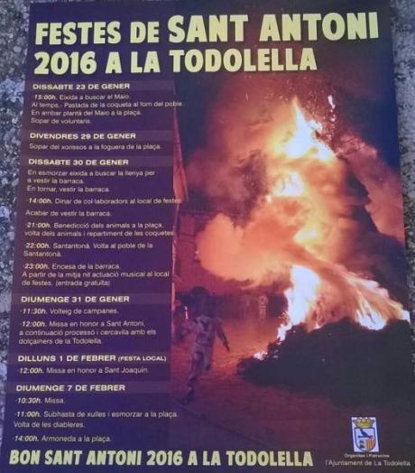 Fiestas de San Antonio Todolella 2016