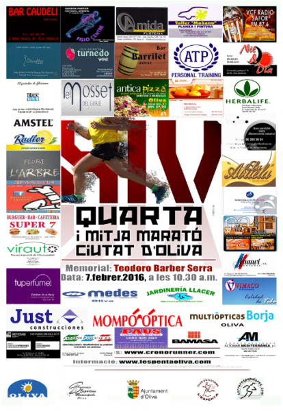 XIV Quarta i Mitja Marató Ciutat d'Oliva. Memorial Teodoro Barber Serra.