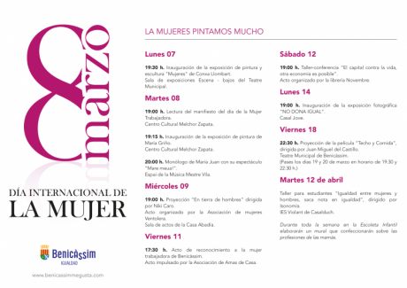 Programa actividades mes de la dona