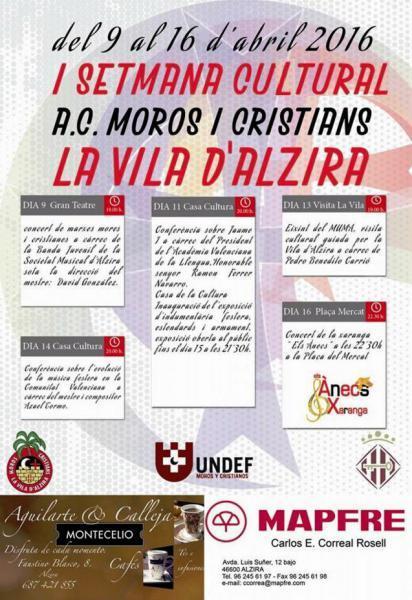 I Setmana Cultural - Moros i Cristians de la Vila d´Alzira