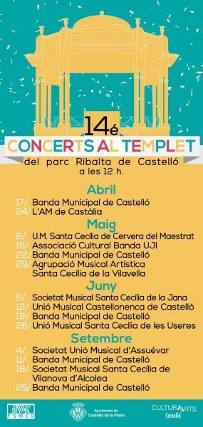 Conciertos en el Templete del Parque Ribalta de Castellón