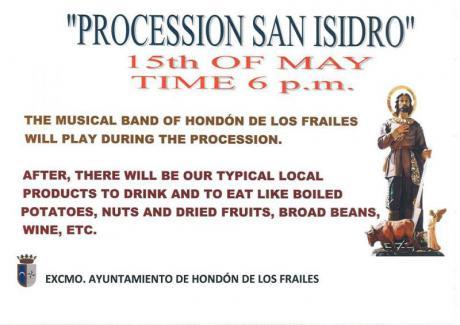 PROCESSION SAN ISIDRO HONDÓN DE LOS FRAILES 2016