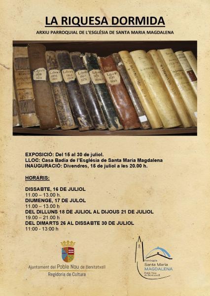 """Exposición """"La Riquesa Dormida"""""""