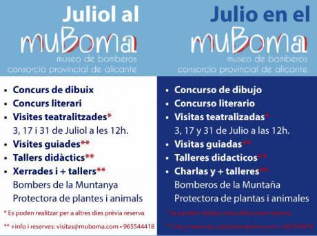 Actividades de julio en el Museo de Bomberos - MUBOMA