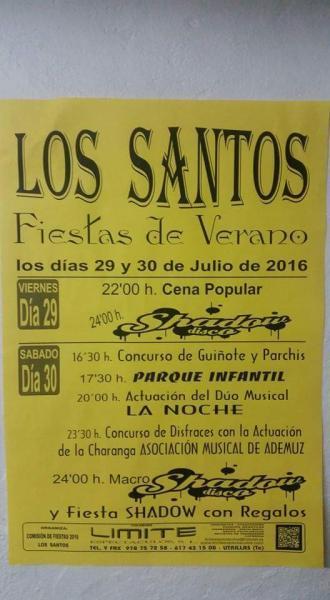 Fiestas de verano de Los Santos 2016