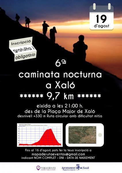 6ª Caminata nocturna en Xaló.