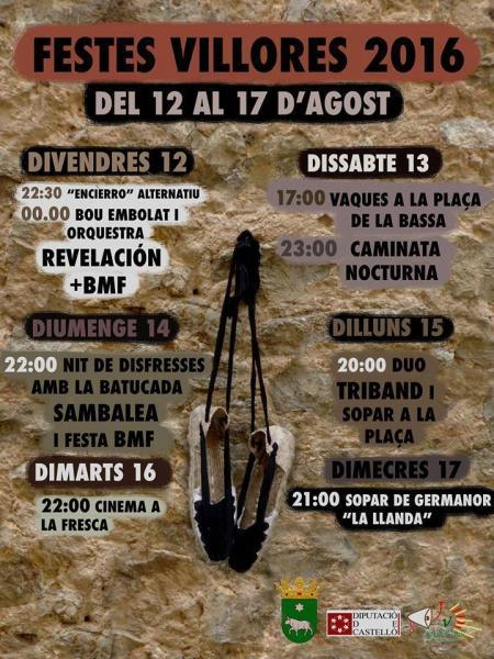 Fiestas en Honor a la Virgen del Roser en Villores