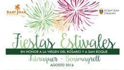 Fiestas estivales Agosto 2016 Fabraquer y Benimagrell