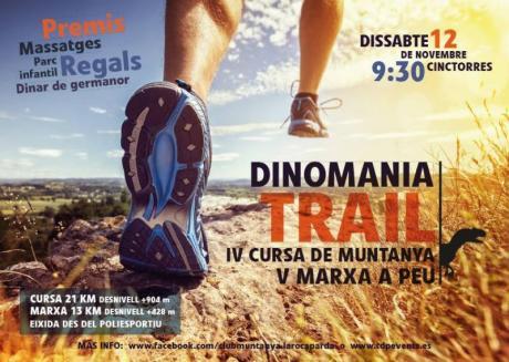 DINOMANIA TRAIL. IV Carrera de montaña y V Marcha a Pie . Cinctorres Dinomania