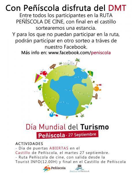 """Peñíscola - Día Mundial del Turismo DMT-2016 – """"Sé turista en tu ciudad""""."""