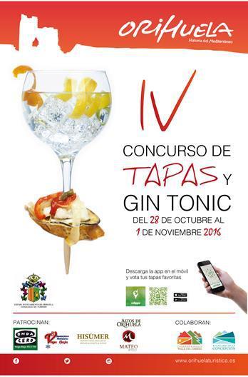 IV CONCURSO DE TAPAS Y GIN TONIC ORIHUELA HISTORIA DEL MEDITERRÁNEO