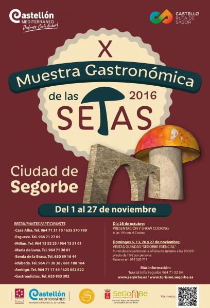 X Muestra Gastronómica de las Setas de Segorbe 2016