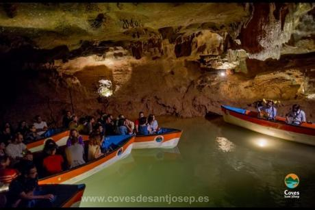 Travel to the center of the Earth from Sant Josep Caves in Castellón