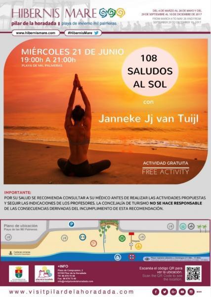 Día Internacional del Yoga: 108 saludos al sol en Pilar de la Horadada 2017