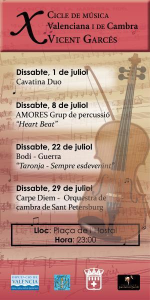 """Ciclo de Música """"Vicent Garcés"""". Faura 2017"""