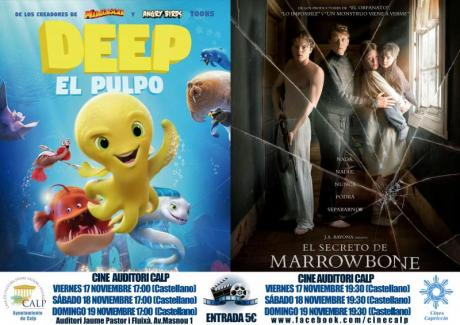 Cine Casa Cultura 17 , 18 y 19 noviembre de Calp