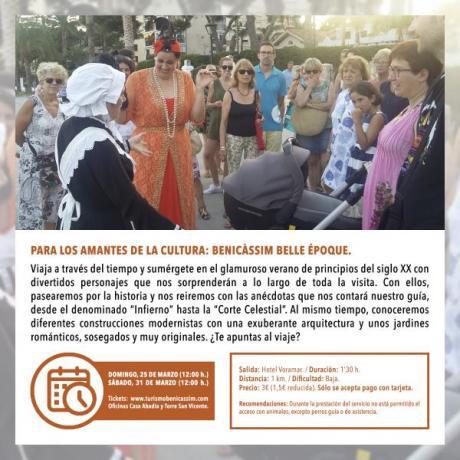 Programa Oficial Visitas guiadas: Benicàssim Belle Époque
