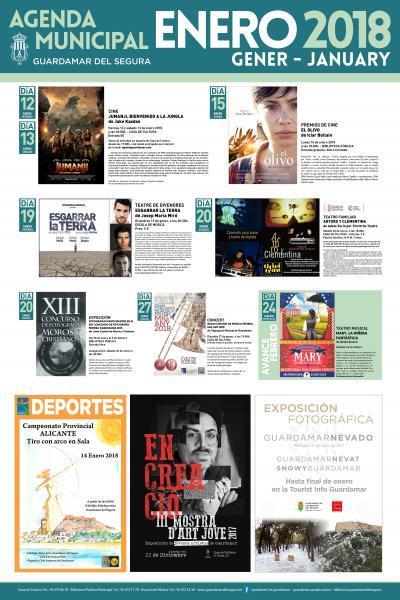 Programación cultural enero 2018 Guardamar del Segura