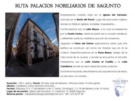 Ruta Palacios Nobiliarios Sagunto. 2018