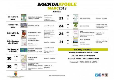 Agenda Marzo 2018