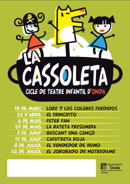 LA CASSOLETA: CICLO DE TEATRO INFANTIL DE ONDA
