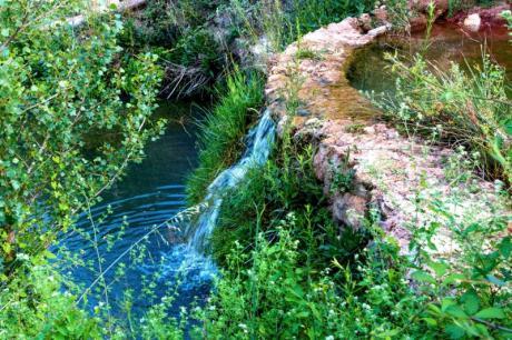 Charco Azul et Route des Moulins d'Alborache