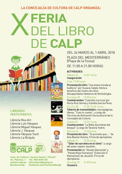X Feria del Libro Calp 2018