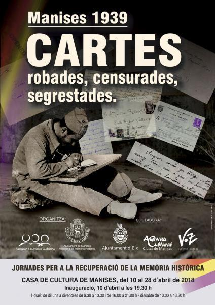 Manises 1939 Cartes robades, censurades, segrestades