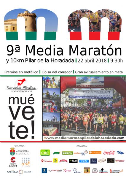 9ª Media Maratón y 10K Pilar de la Horadada 'Remedios Miralles Fundación Caliche'en Pilar de la Horadada 2018