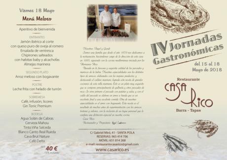 IV Jornadas Gastronómicas Casa Rico