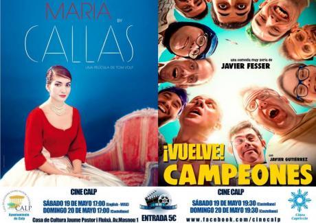 Cine Casa Cultura Calp 19 y 20 mayo