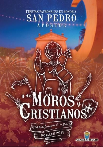 """Programme of Events. Fiestas in honour of our patron saint """"San Pedro"""" Moors and Christians Rojales 2018"""